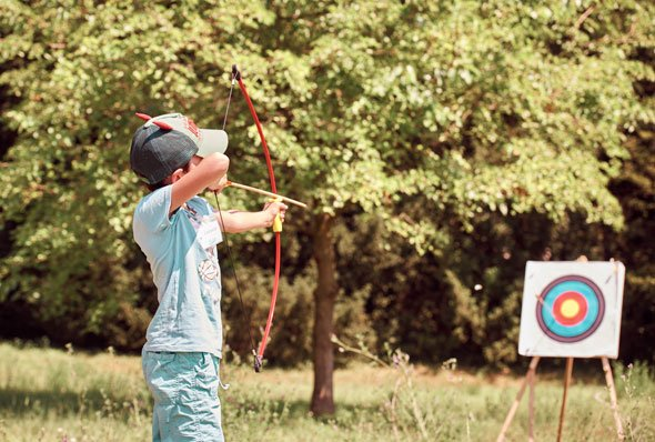 Archery: A summer<br> camp favorite